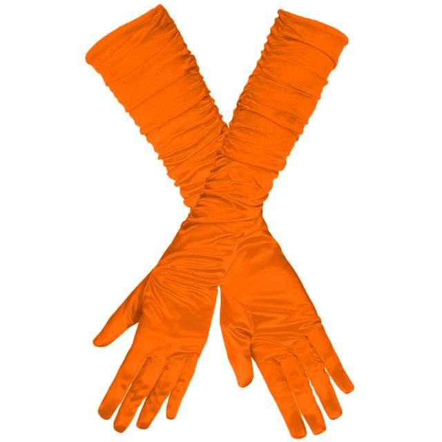 """Rękawiczki """"Long Elegant"""", pomarańczowe neon, GUIRCA, 45 cm"""