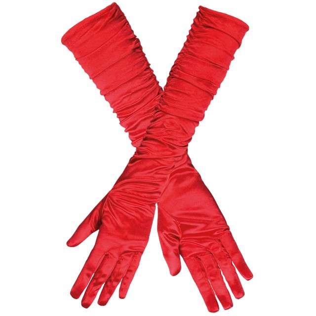 """Rękawiczki """"Long Elegant"""", czerwone, GUIRCA, 45 cm"""