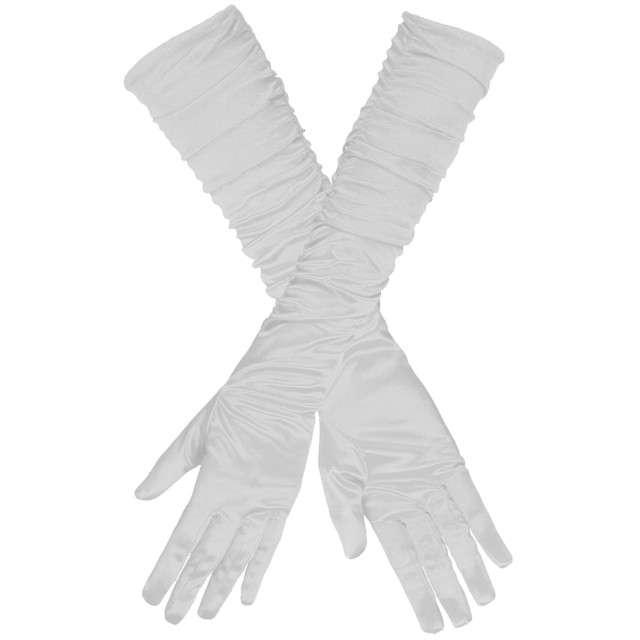 """Rękawiczki """"Long Elegant"""", białe, GUIRCA, 45 cm"""