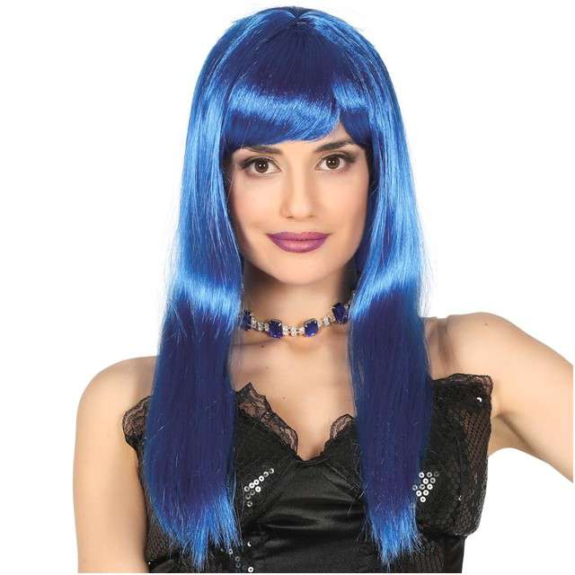 "Peruka party ""Neon Bob"", niebieska, GUIRCA"