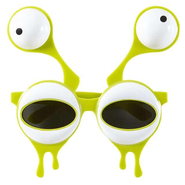 """Okulary party """"Kosmita Obcy"""", zielony, WIDMANN"""