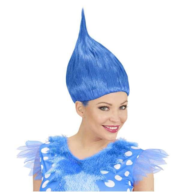 """Peruka party """"Troll"""", niebieska, WIDMANN"""