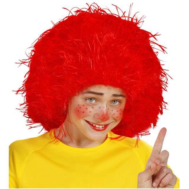 """Peruka party """"Wróżka Afro"""", czerwona, WIDMANN"""