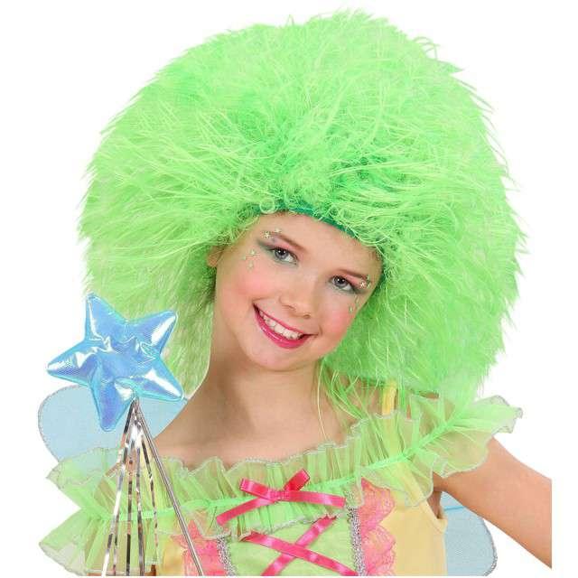 """Peruka party """"Wróżka Afro"""", zielona neonowa, WIDMANN"""