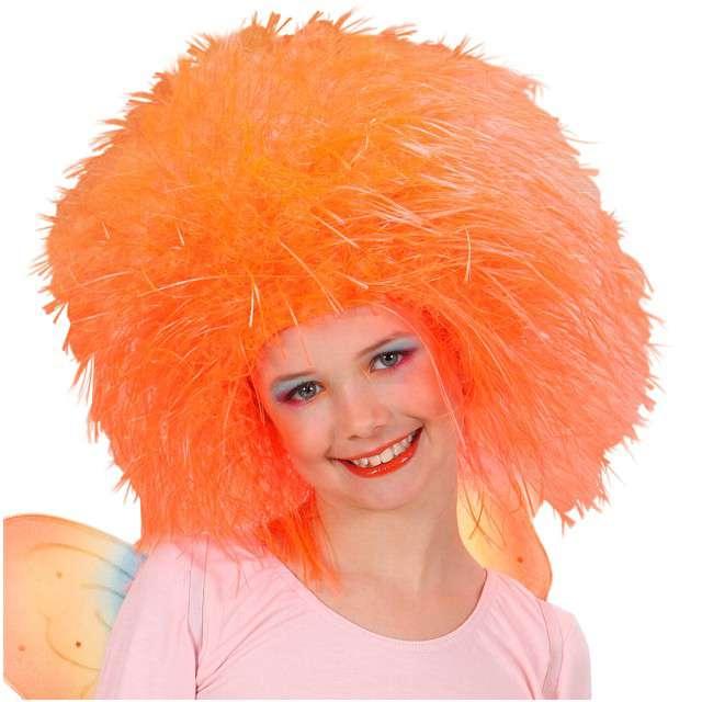"""Peruka party """"Wróżka Afro"""", pomarańczowa neonowa, WIDMANN"""