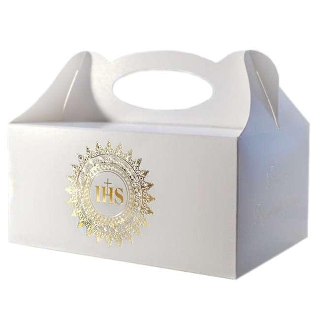 """Pudełko na ciasto """"Komunia IHS Gold"""", 5 szt"""