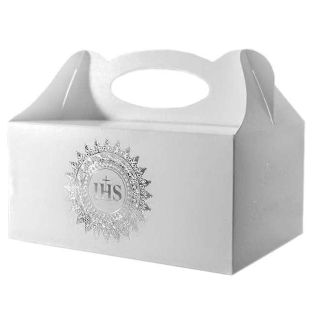"Pudełko na ciasto ""Komunia IHS Silver"", 5 szt"
