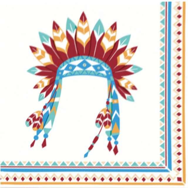 "Serwetki ""Tepee & Tomahawk - Indianie"", AMSCAN, 33 cm, 20 szt"