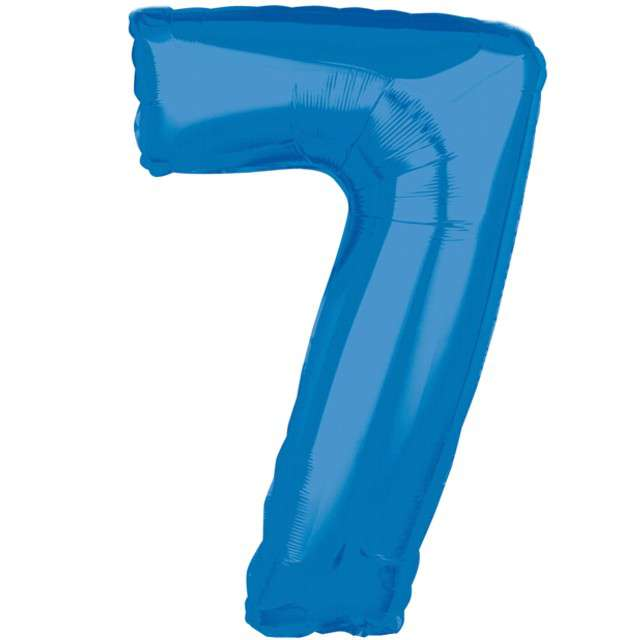 """Balon foliowy cyfra 7, 26"""", AMSCAN, niebieski"""