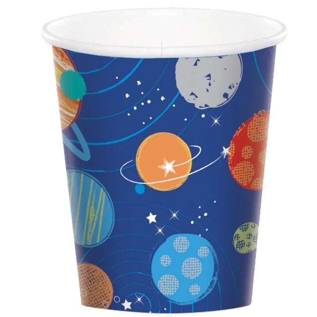 """Kubeczki papierowe """"Kosmos - Blast Off"""", AMSCAN, 266 ml, 8 szt"""