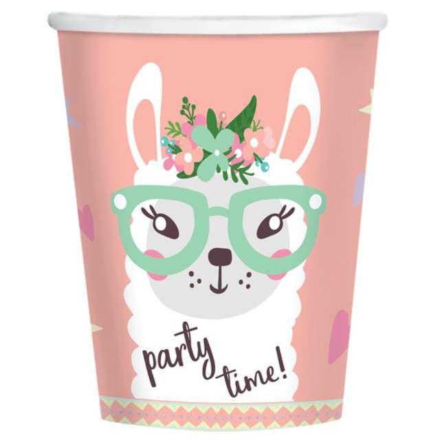 "Kubeczki papierowe ""Lama"", AMSCAN, 250 ml, 8 szt"