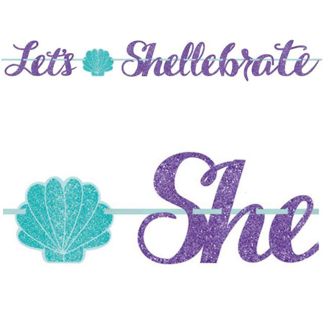 "Girlanda ""Lets Shellebrate - Syrena"", AMSCAN, 365 cm"