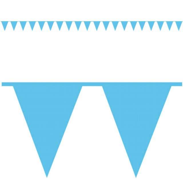 """Baner flagi """"Premium"""", niebieski, AMSCAN, 1000 cm"""
