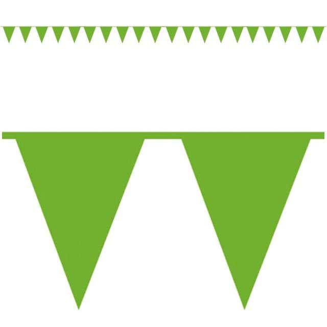 """Baner flagi """"Premium"""", zielony jasny, AMSCAN, 1000 cm"""