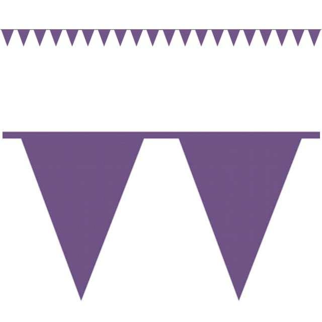 "Baner flagi ""Premium"", purpurowy, AMSCAN, 1000 cm"