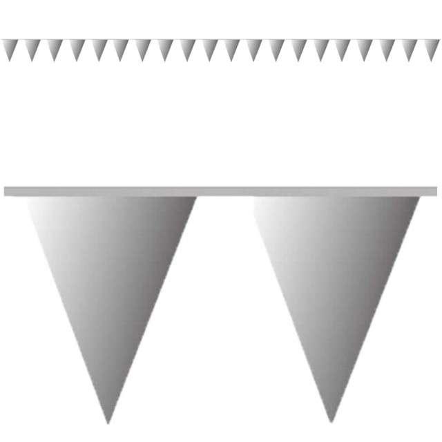 "Baner flagi ""Premium"", srebrny, AMSCAN, 1000 cm"