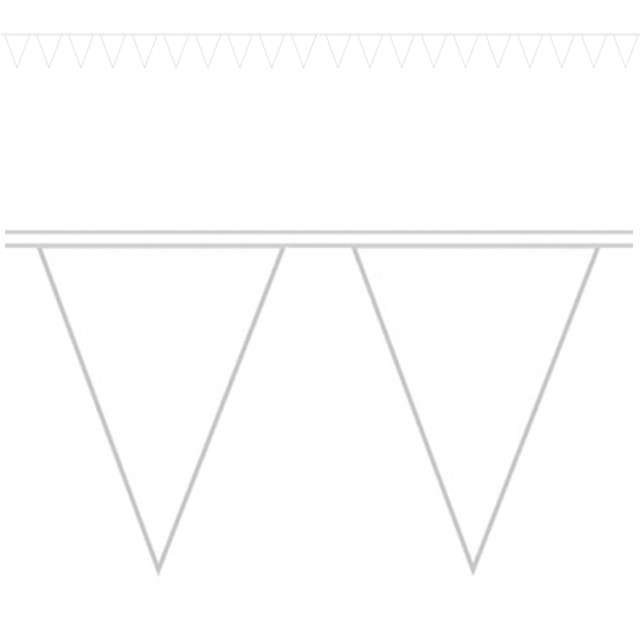 """Baner flagi """"Premium"""", biały, AMSCAN, 1000 cm"""