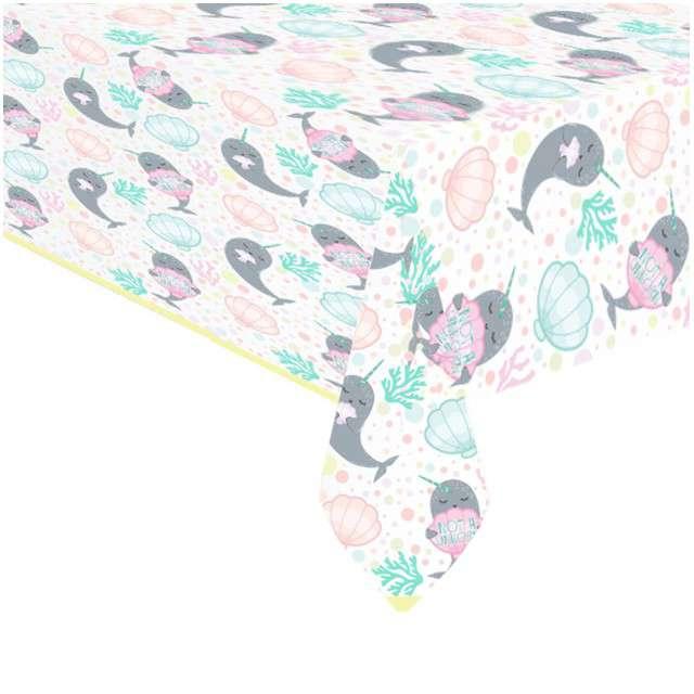 """Obrus foliowy """"Narwhal"""", AMSCAN, 180x120 cm"""