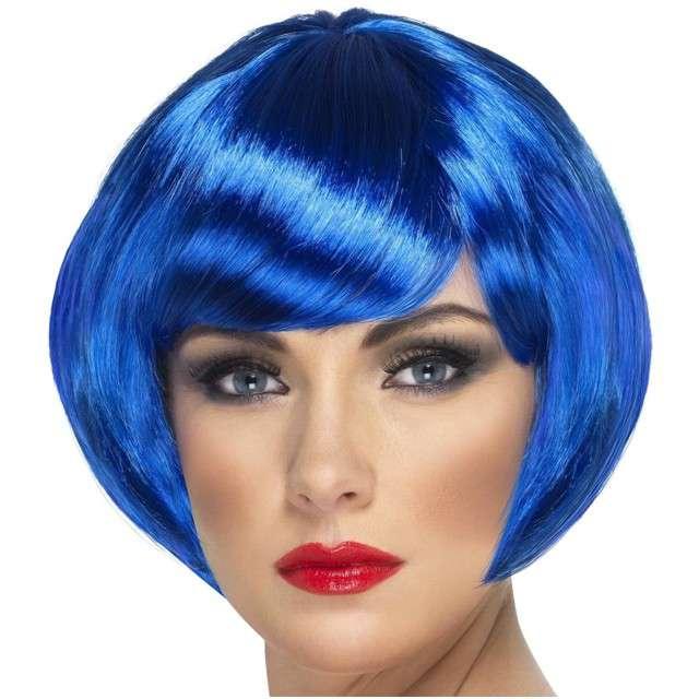 "Peruka party ""Bob Babe"", niebieska, SMIFFYS"