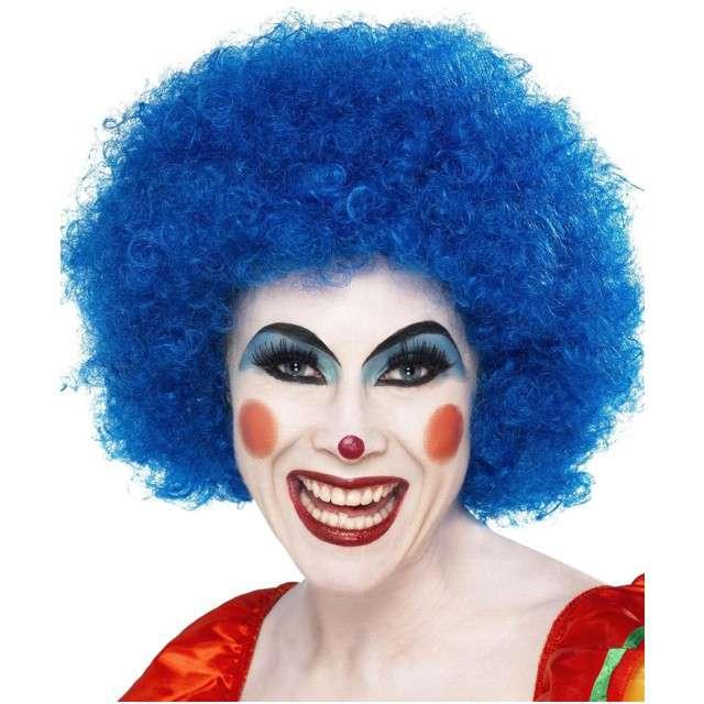 "Peruka party ""Szalony Klaun"", niebieska, SMIFFYS"