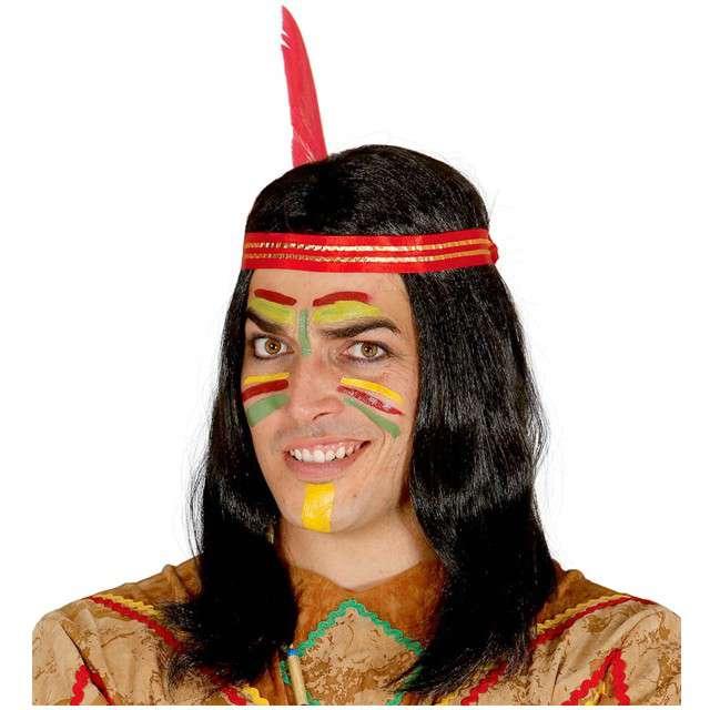 "Peruka party ""Indianin Pou"", czarna, GUIRCA"