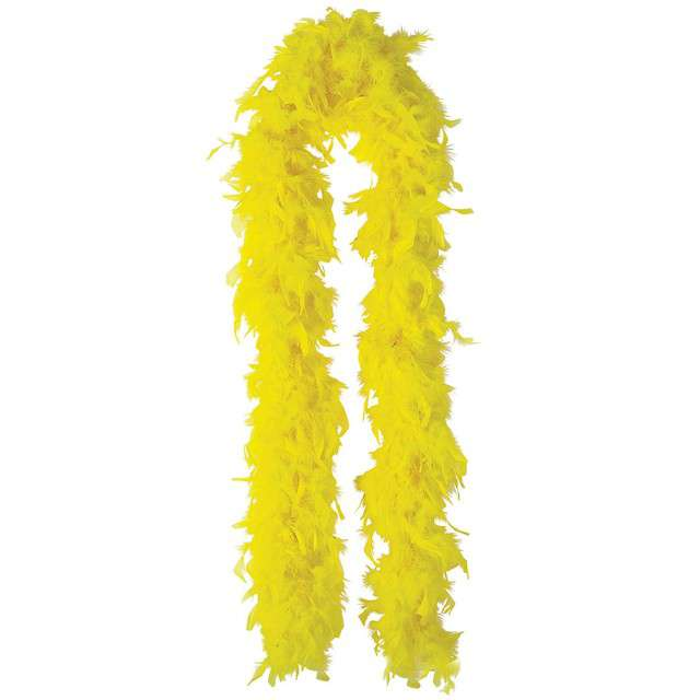 "Boa ""Classic"", żółte, GUIRCA, 40 g, 180 cm"