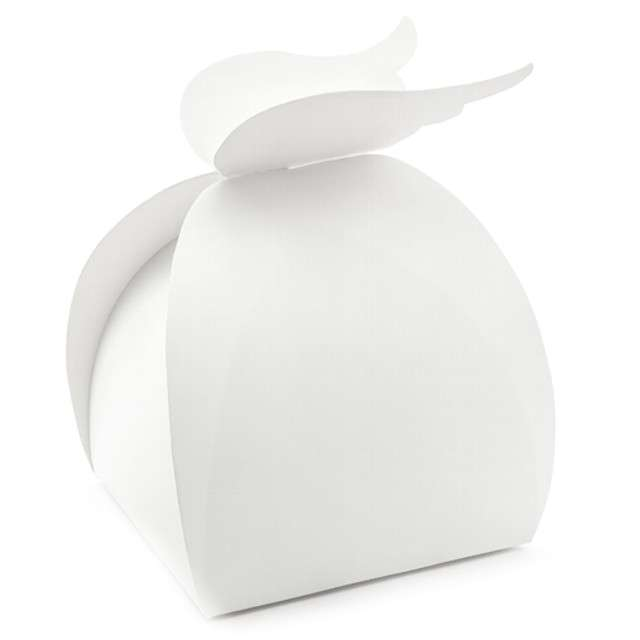 """Pudełko na ciasto """"Skrzydła"""", biały, PartyDeco, 10 szt"""