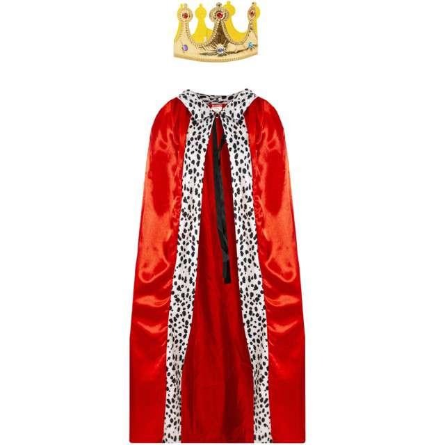 """Strój dla dorosłych """"Król"""", czerwony, KRASZEK, rozm. uniw."""