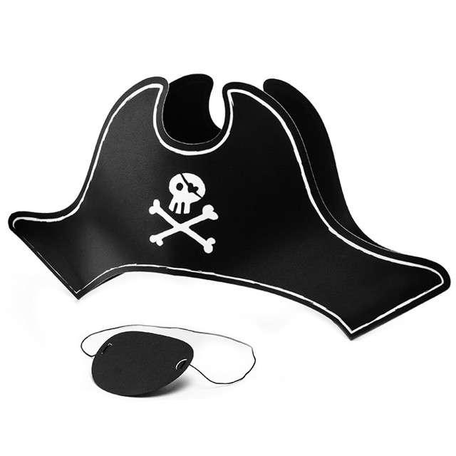 """Czapeczki papierowe """"Pirat z opaską"""", PartyDeco, 1 szt"""