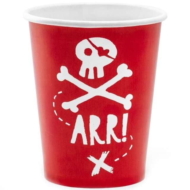 """Kubeczki papierowe """"Piraci"""", PartyDeco, 220 ml, 6 szt"""