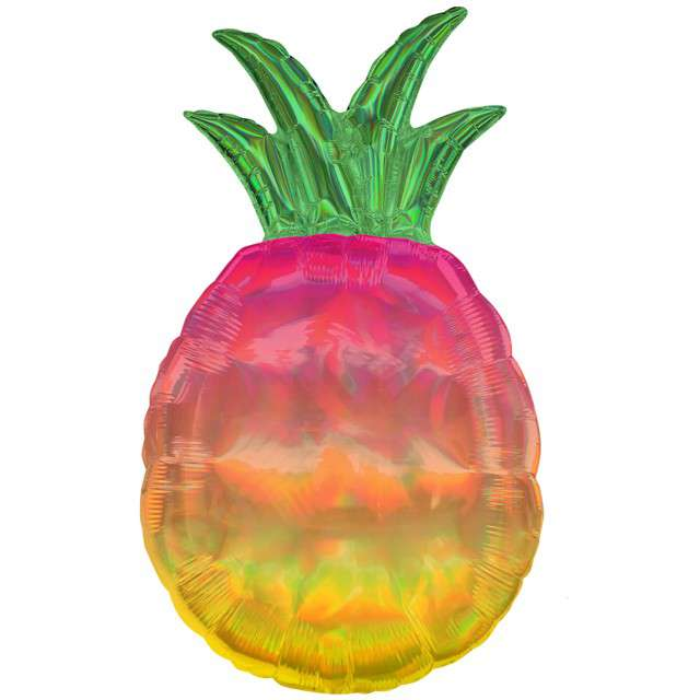 """Balon foliowy """"Ananas Opalizujący"""", holograficzny, 30"""" SHP"""
