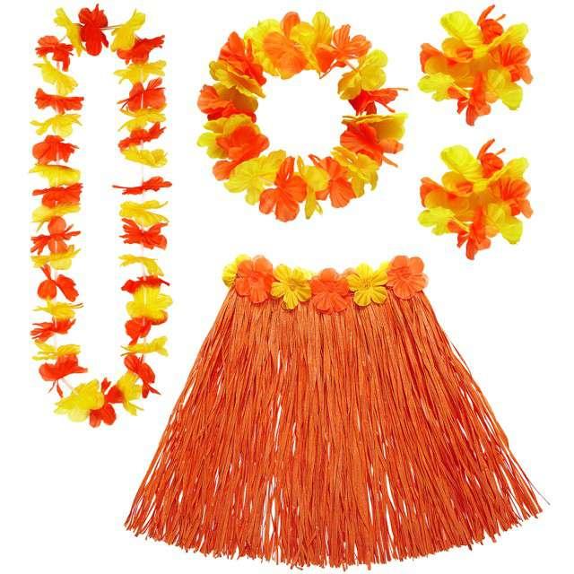 """Zestaw """"Hawaje Deluxe"""", pomarańczowy, WIDMANN"""
