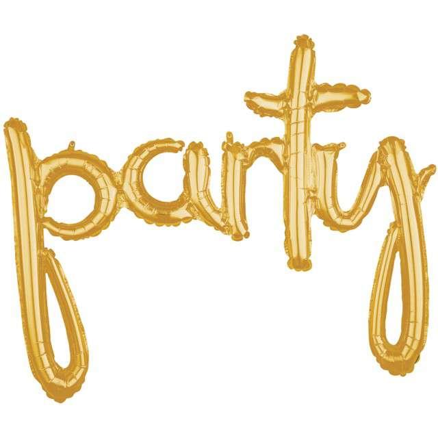 """Balon foliowy """"party"""", złoty, AMSCAN, 39"""" SHP"""