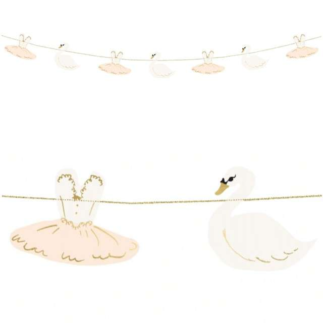 "Girlanda ""Lovely Swan"", Baletnica, PartyDeco, 110 cm"
