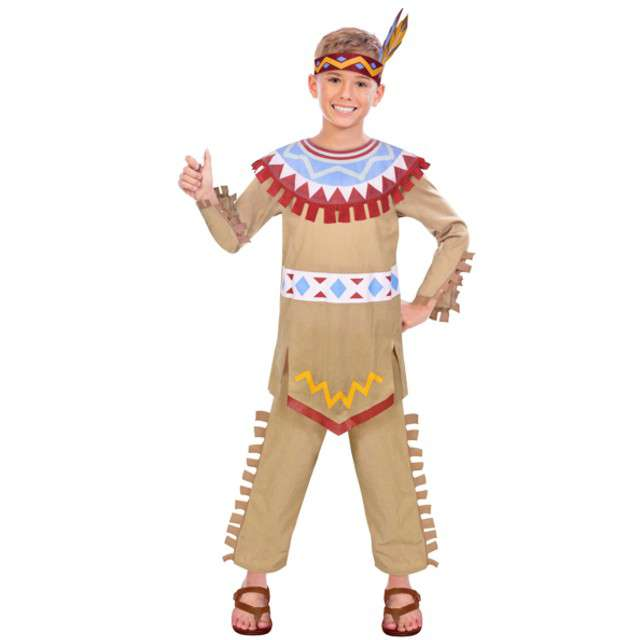 """Strój dla dzieci """"Indianin Tomahawk"""", AMSCAN, rozm. 4-6 lat"""