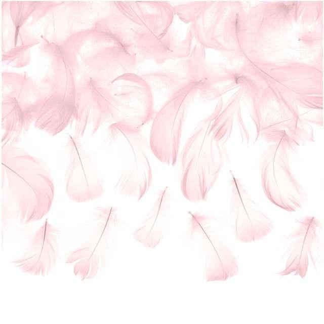 """Piórka dekoracyjne """"Solid"""", różowe jasne, PartyDeco, 3g"""