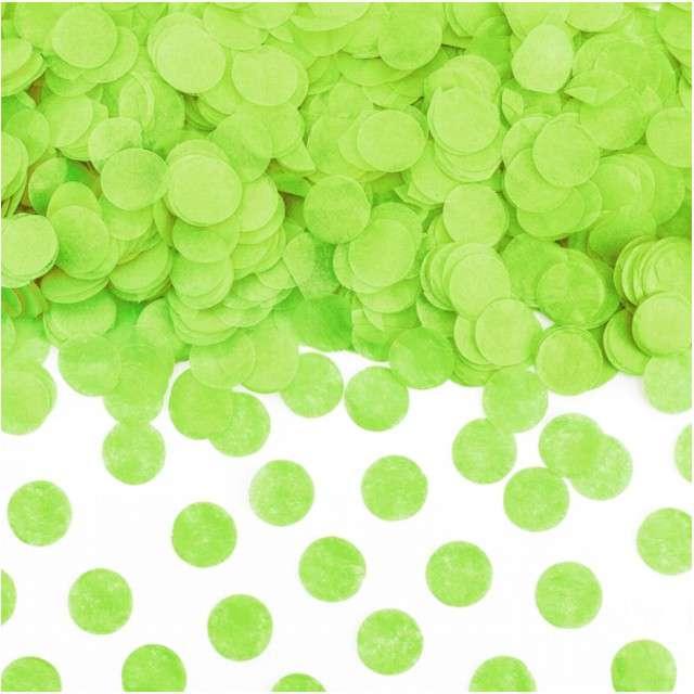 """Konfetti """"Kółka"""", zielone jabłuszko, PartyDeco, 15g"""