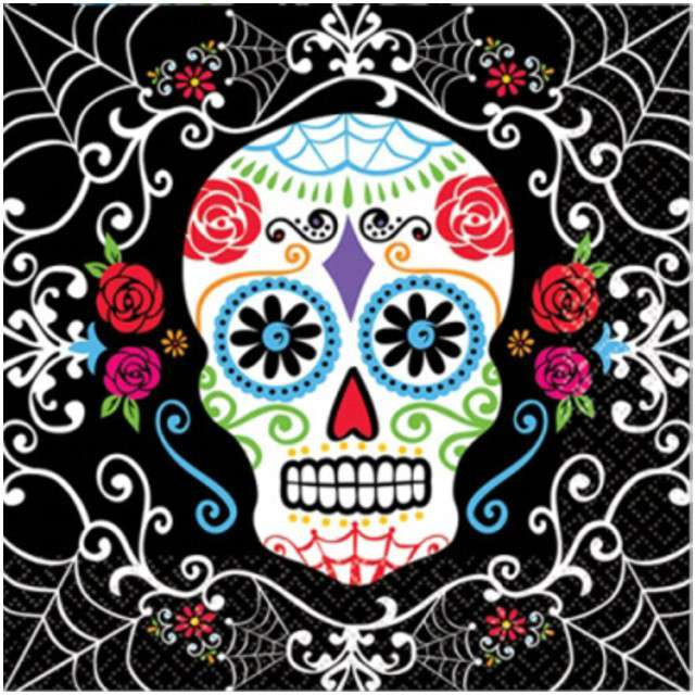 "Serwetki ""Day of the Dead"", AMSCAN, 33 cm, 20 szt"