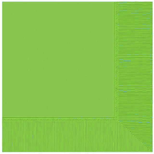 """Serwetki """"Gładkie"""", zielone kiwi, AMSCAN, 33 cm, 20 szt"""