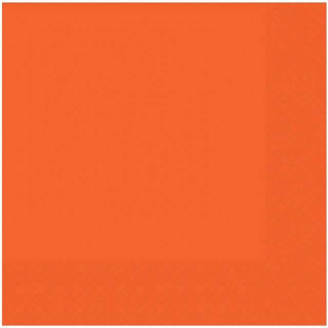 """Serwetki """"Gładkie"""", pomarańczowe, AMSCAN, 33 cm, 20 szt"""