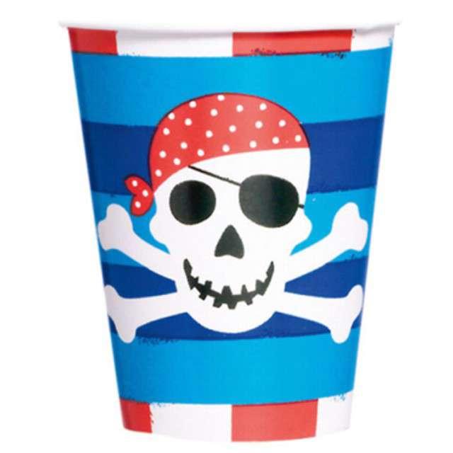 """Kubeczki papierowe """"Pirates Treasure"""", AMSCAN, 266 ml, 8 szt"""