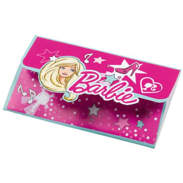 """Zaproszenia urodzinowe """"Barbie Popstar"""", AMSCAN, 8 szt"""