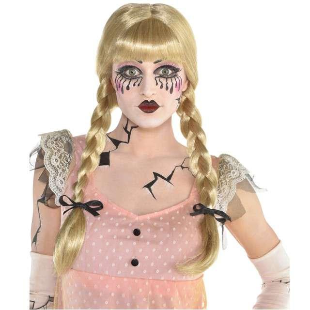 "Peruka party ""Warkoczyki Creepy Doll"", blond, AMSCAN"