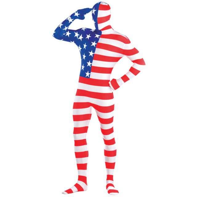 "Strój dla dorosłych ""Morphsuit - Amerykańska Flaga"", AMSCAN, rozm. M"