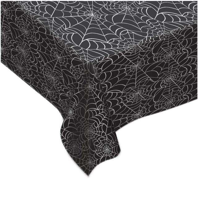 """Obrus foliowy """"Spider Web"""", AMSCAN, 270 x 140 cm"""