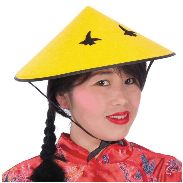 "Kapelusz ""Chińczyk"", żółty, Carnival Toys"