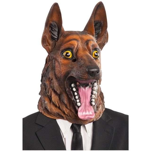 "Maska ""Pies - Owczarek Niemiecki"", lateksowa, Carnival Toys"