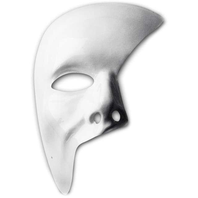 "Maska ""Fantom z Opery"", biała, plastikowa, Carnival Toys"