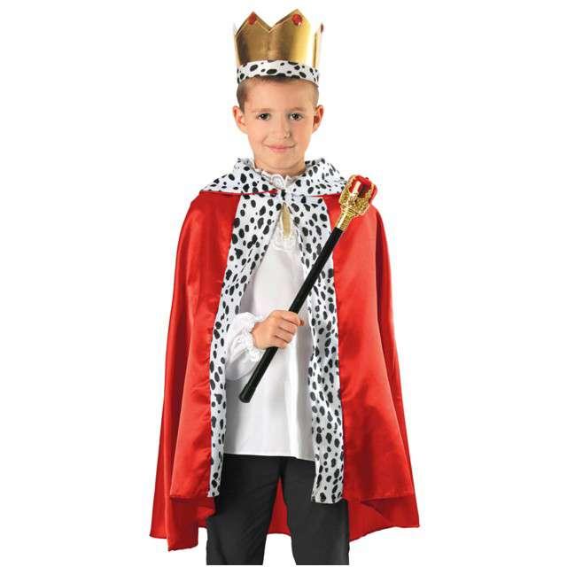 """Strój dla dzieci """"Król"""", czerwony, KRASZEK, rozm. uniw."""