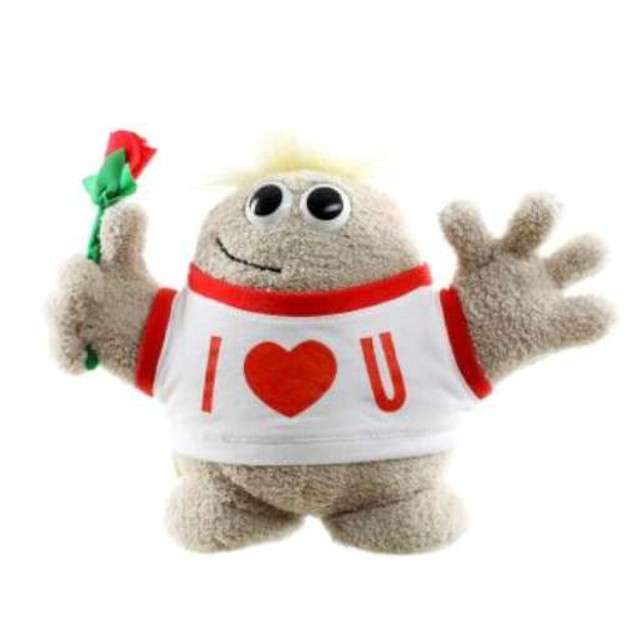 Hugmeez średni - I love you z różyczką
